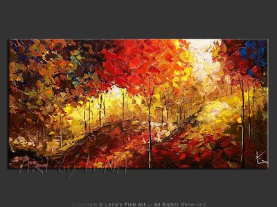 October Hills - original canvas painting by Lena