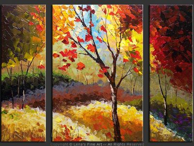 September Hills - original canvas painting by Lena