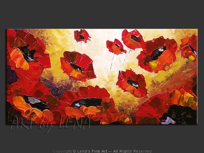 Field of Giant Poppies - home decor art