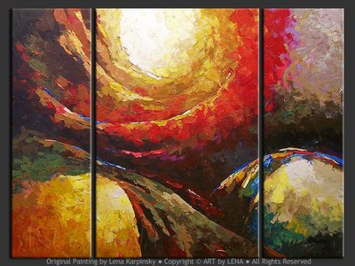 Cosmogony - original canvas painting by Lena
