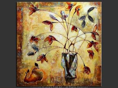 Caramel Bouquet - original canvas painting by Lena