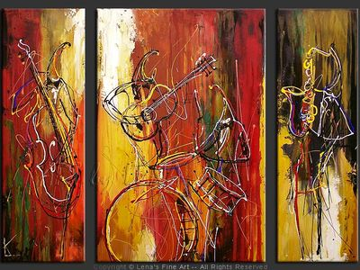 Classic Jazz Band - contemporary painting