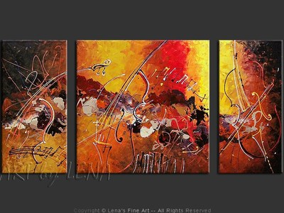 Amazing Cellos: Scherzo - contemporary painting