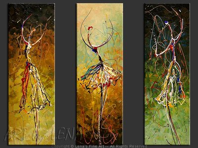 En-Pointe : April Dance - modern artwork