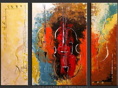 Ancient Melodies - original canvas painting by Lena