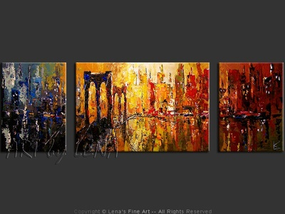 I Am Legend: Sunset - contemporary painting