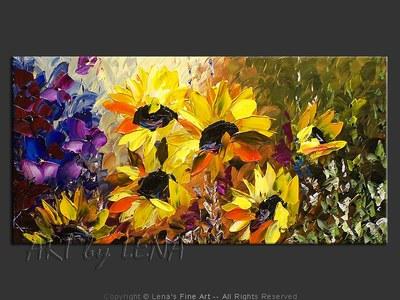 Andalusia Sunflower Garden - wall art