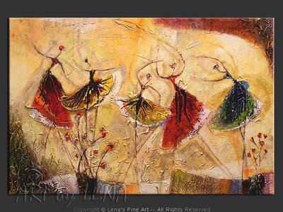 St.Petersburg Ballet School - original canvas painting by Lena