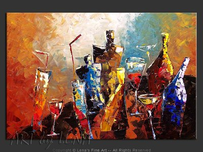 Caribbean Cocktail - contemporary painting