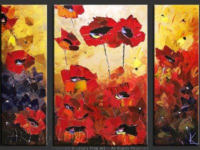 Barcelona Poppies - contemporary painting