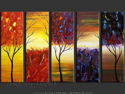 Autumn Dominoes - wall art