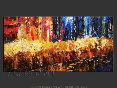 Golden Trees Boulevard - home decor art