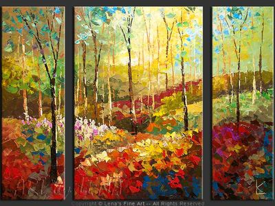 Forest Hill Spring - original canvas painting by Lena