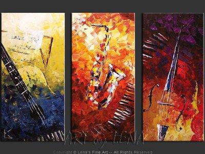 Evening Jazz - original painting by Lena Karpinsky