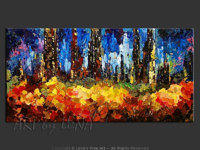 Gotham Fireworks - contemporary painting