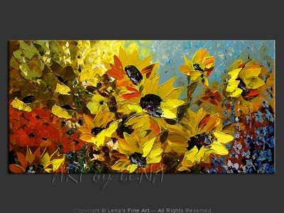 Seville Sunflower Fields - contemporary painting