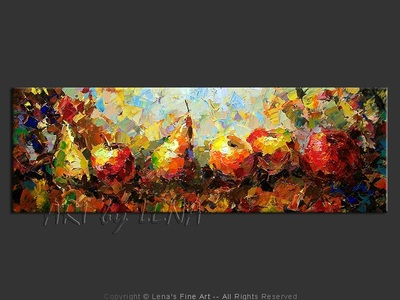 Still Life with Apples and Pears - contemporary painting
