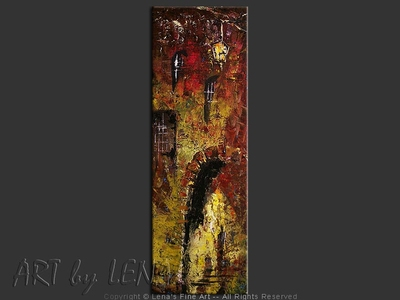 You And Me : Old Castle - original canvas painting by Lena