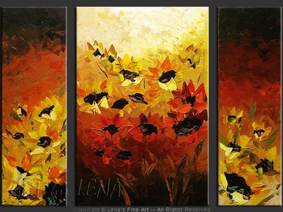 Flores de Cordoba - original canvas painting by Lena