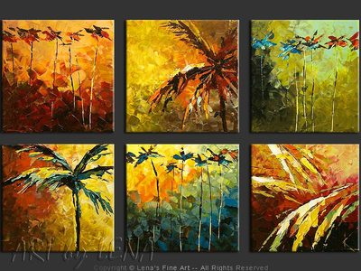 Caribbean Mosaic - contemporary painting