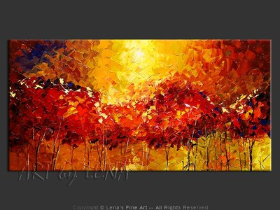 Thornhill Woods Sunset - contemporary painting