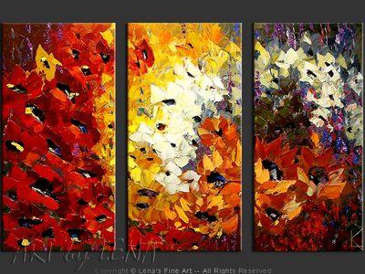 May Flowers - original painting by Lena Karpinsky