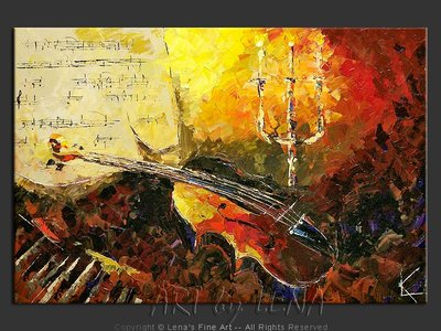 Isaac Stern - contemporary painting