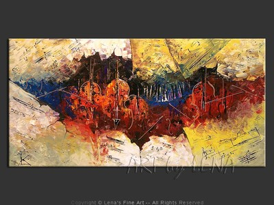 J.S.Bach – Cantata No.1 – Maestoso - original canvas painting by Lena