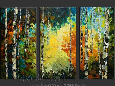 Aspen Forest Morning - home decor art