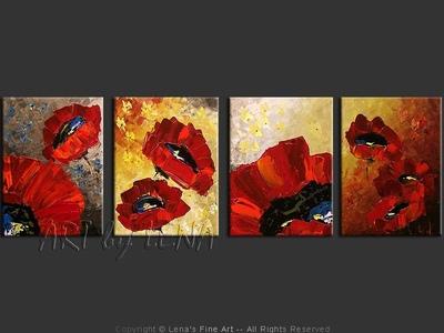 Poppies of Granada - modern artwork