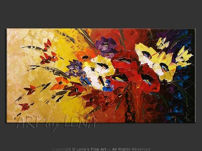 Always With Flowers - contemporary painting