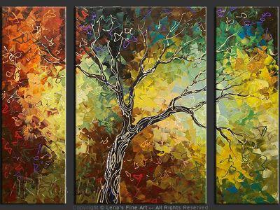 Our Tree - original painting by Lena Karpinsky