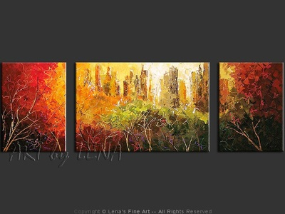Central Park: The Fall - modern artwork