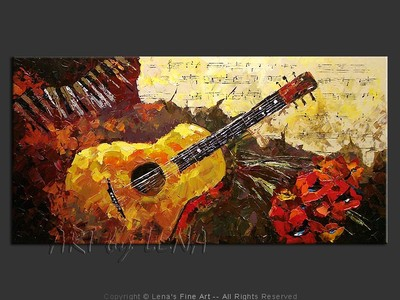 Romantic Guitar - home decor art