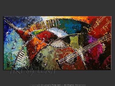 Toronto Jazz Festival 2008 - original painting by Lena Karpinsky