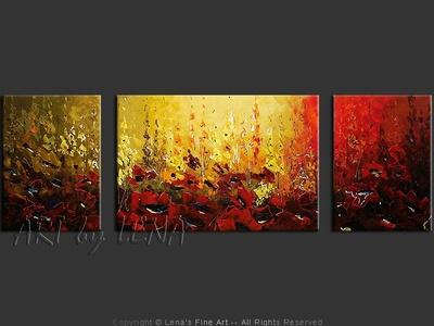Mountain Poppies - original painting by Lena Karpinsky