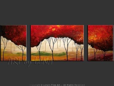 Cranberry Woods - modern artwork