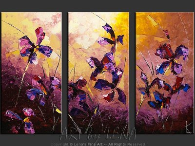 Night Irises - wall art