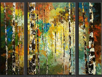 Birch Forest Paths - art for sale