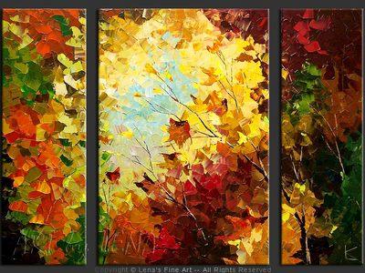 Maple Leaves - modern artwork