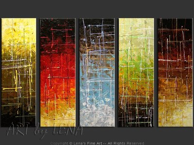 Colors Of The Spirit - original canvas painting by Lena
