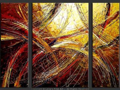 Skylight Path - contemporary painting