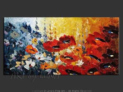 Lovely Garden - original painting by Lena Karpinsky