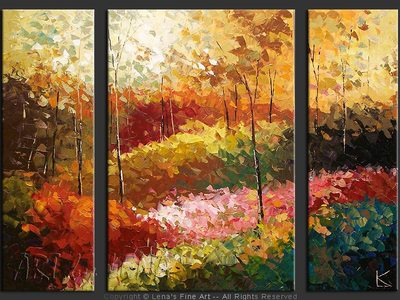 Forest Hills: Colours Of Spring - original canvas painting by Lena