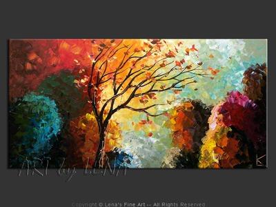 Beautiful North - original painting by Lena Karpinsky