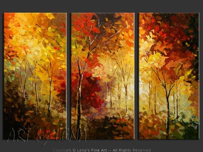 Oak Ridges - original painting by Lena Karpinsky