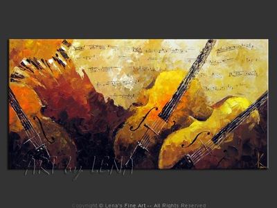 Five-string Violas - contemporary painting