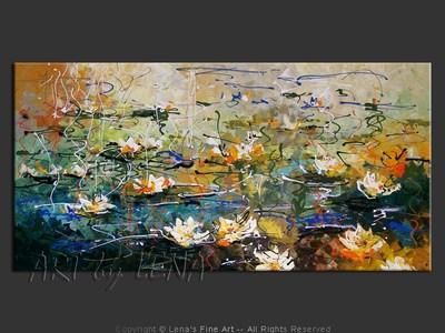 Hommage a Claude Monet : Water Lilies - wall art