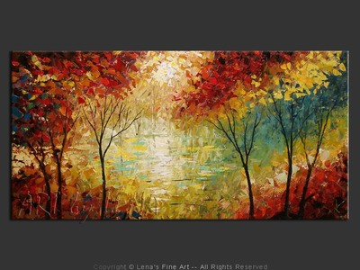 Silent Lake - contemporary painting