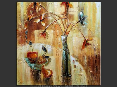 Caramel Fruits - original canvas painting by Lena